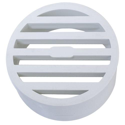 "4"" PVC SDR35 Drain Grate (White) (Sp)"
