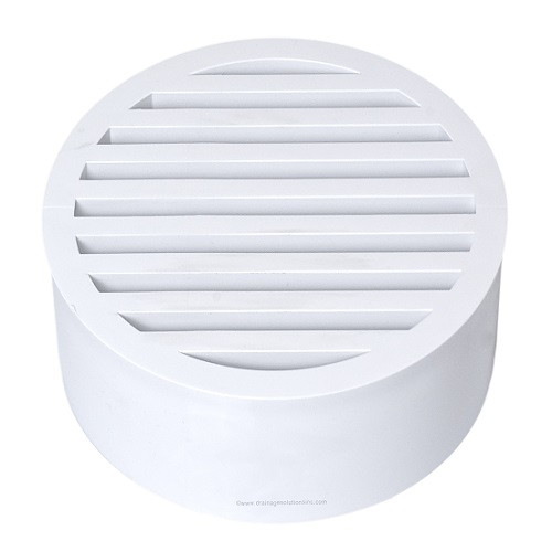 "6"" PVC SDR35 Drain Grate (White) (Sp)"