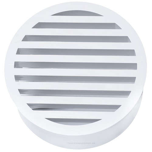 "8"" PVC SDR35 Drain Grate (Sp) (White)"