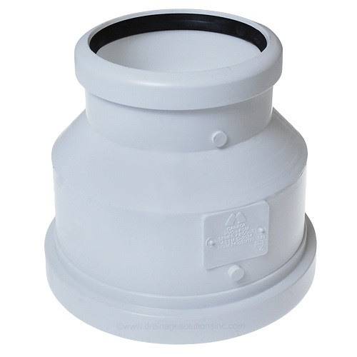 "6"" PVC SDR35 X 4"" DWV Gasket Joint Reducer Coupling  (G x G)"