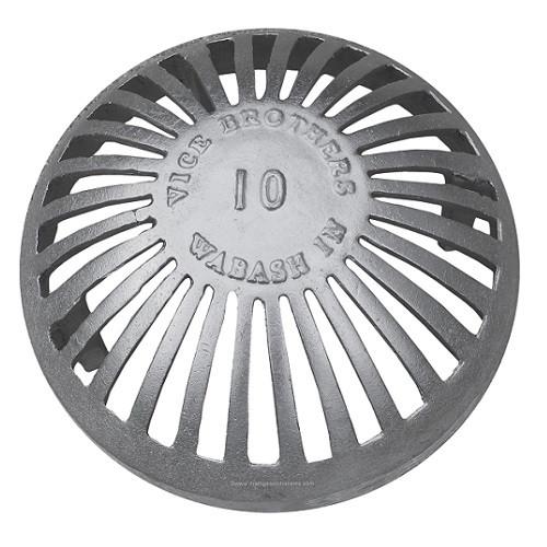 """10"""" Aluminum Dome Grate"""