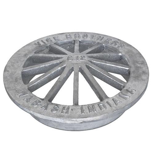 """12"""" Aluminum Low Cone Grate"""
