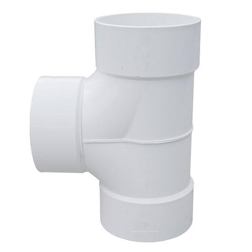 "8"" x 8"" x 8"" PVC DWV Solvent Weld 2 Way Cleanout Tee (S x S x S)"
