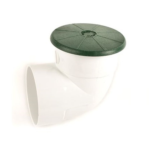 """TEMPO 4"""" Pop-Up Emitter with SDR35 Elbow - Green (SPRING LOADED)"""