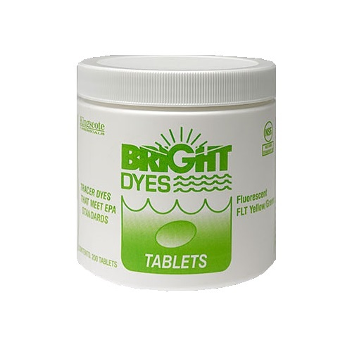 Bright Dyes Fluorescent FLT Yellow/Green Dye Tablets (200 Tablets)