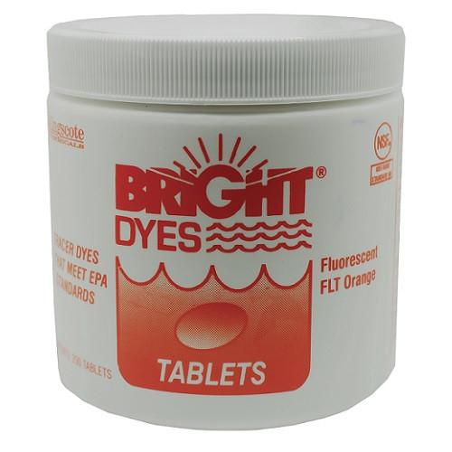 Bright Dyes Fluorescent FLT Orange Dye Tablets (200 Tablets)