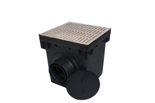 """NDS 12"""" Four Hole Catch Basin Kit w/ Sand Grate"""