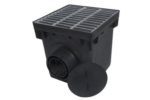 "NDS 12"" Three Hole Basin Kit w/ Galvanized Metal Grate"