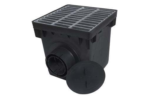 """NDS 12"""" Four Hole Basin Kit w/ Galvanized Metal Grate"""