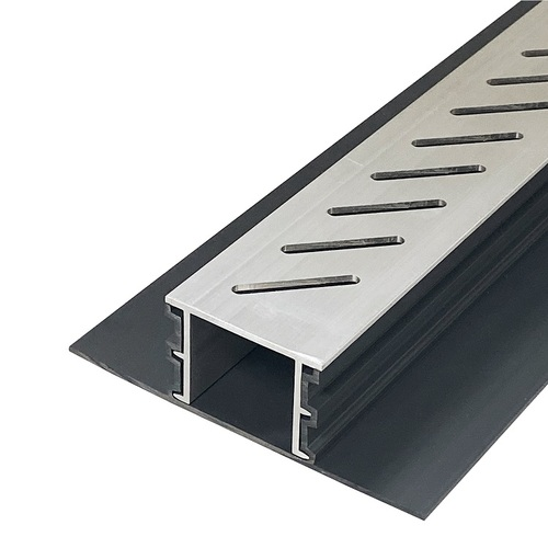 Stegmeier Adjustable Height Paver Drain (Aluminum) 10'