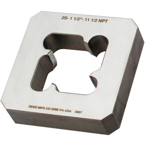 """Reed 2SP12 1/2"""" NPT Steel / Stainless Steel 4"""" x 4"""" Block Die 05524"""