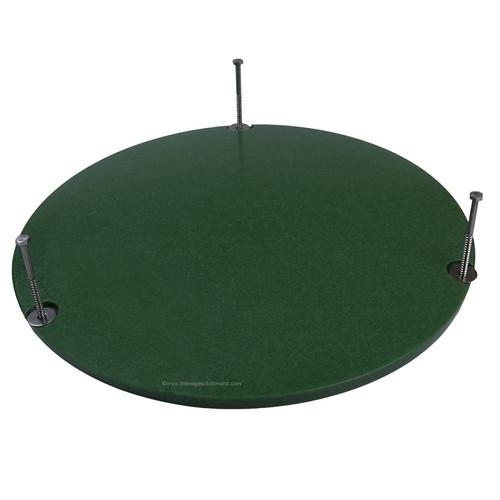 "12"" Plastic Septic Riser Cover (Green)"