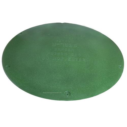 "24"" Plastic Septic Riser Cover (Green)"