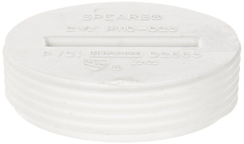 """4"""" PVC Cleanout Countersunk Plug (MPT) (Box of 25)"""