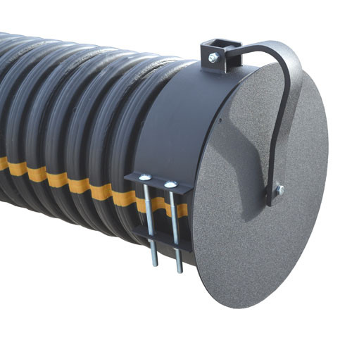 """Flap Gate 15"""" for Corrugated Plastic Pipe"""