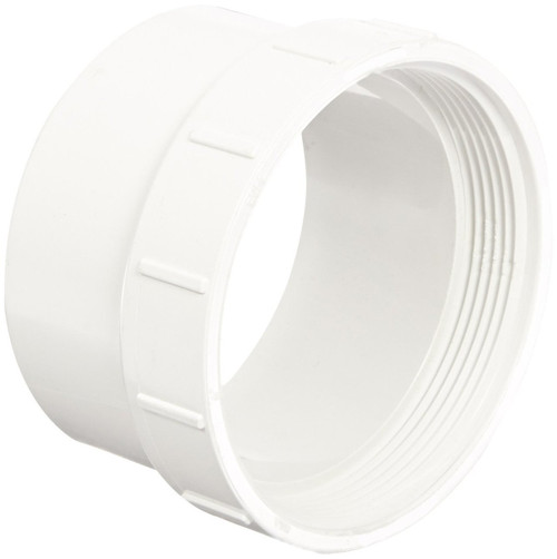 "3"" PVC DWV Cleanout Adapter (Sp x FPT)"