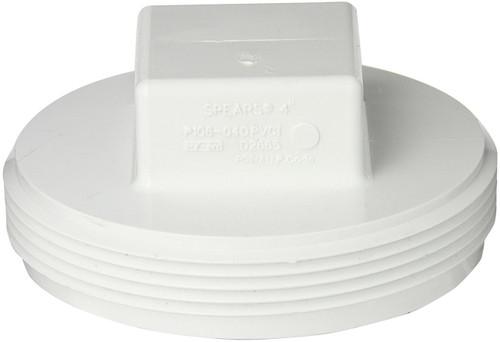 """4"""" PVC Cleanout Plug (MPT)"""