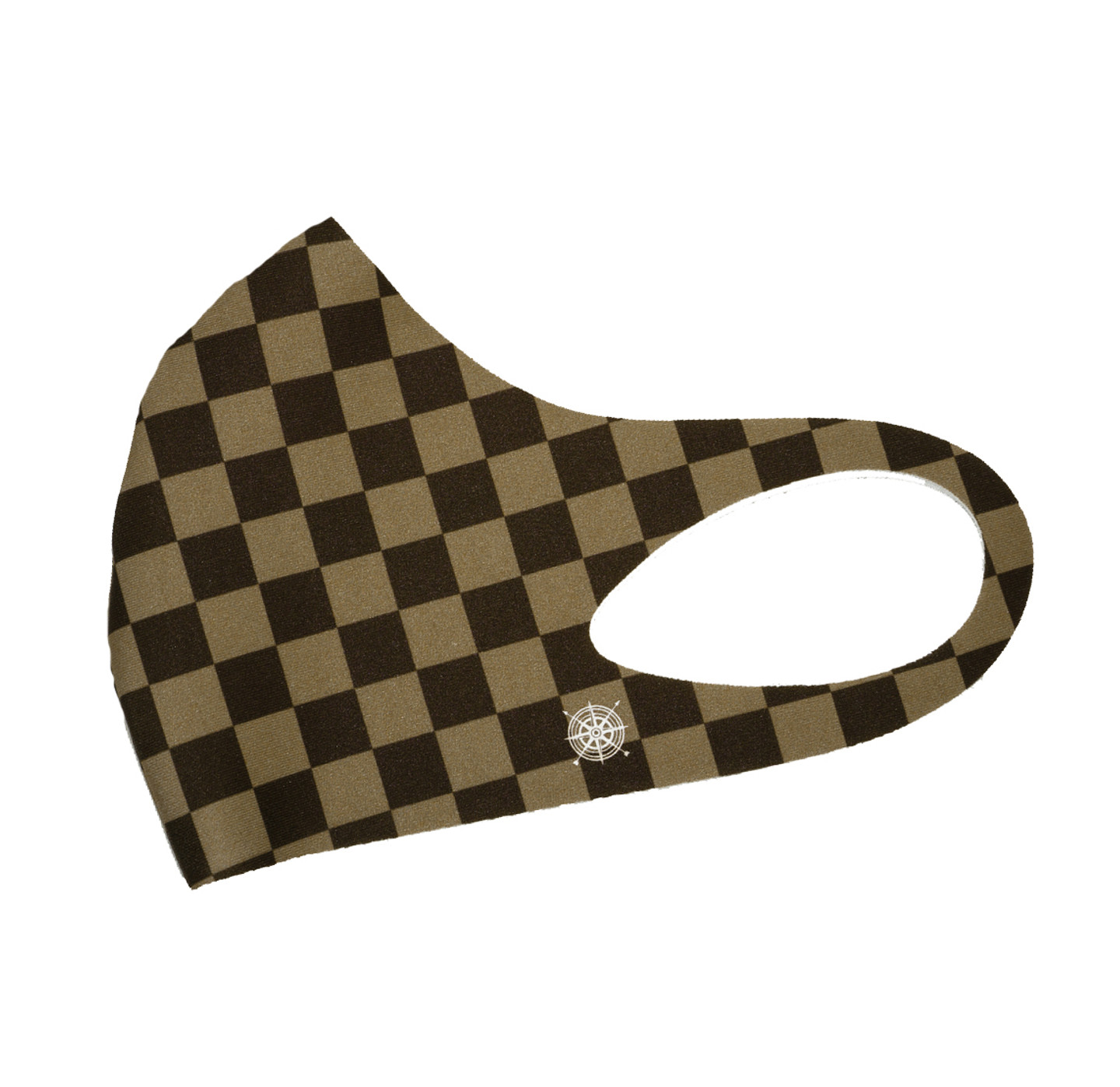 Pete Huntington Mask - Big Squares (Brown)