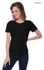 1420 - Women's CVC Melrose High Low T-shirt