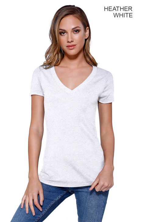 1512 - Women's Triblend V-Neck T-shirt