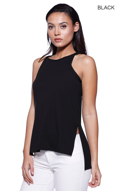 1481 - Women's CVC Side Slit Tank