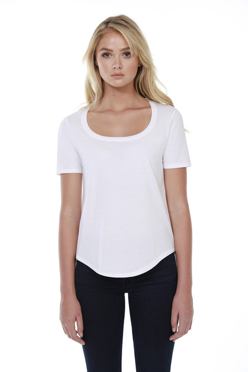 1019 - Women's Cotton U-Neck Tee