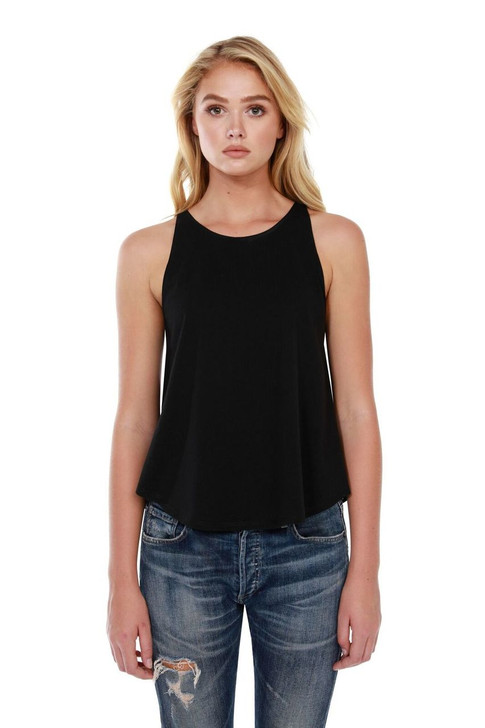 1086 - Women's Cotton Rounded Tank