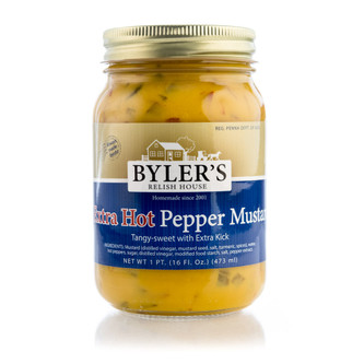 Excellent combination of fresh jalapeño peppers and mustard, with some habañeros