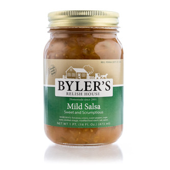 Sweet, scrumptious salsa with crushed vine-ripened tomatoes, fresh peppers and onions diced to perfection