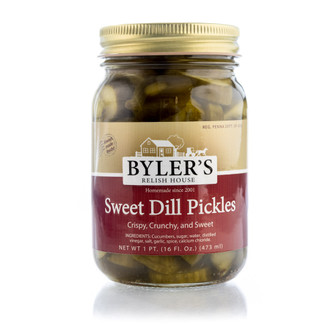 Lightly sweet and crispy pickles with good dill flavor