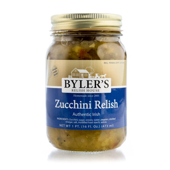 An Irish original, our zucchini relish is a good condiment for hamburgers and hot dogs.
