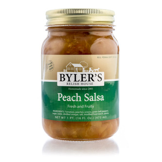 This is not your typical salsa. Our crushed vine ripened tomatoes, fresh peppers, onions, and exquisite peaches diced to perfection. Our signature blend of spices set this salsa apart from others! Enjoy a sweet, tasty fruit salsa that is sure to have your taste buds begging for more!