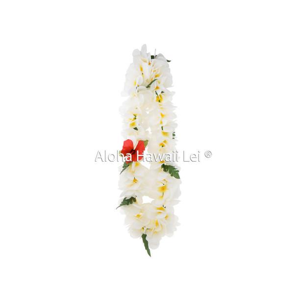 Plumeria/Jasmine Poepoe Lei - Yellow/White (Pack of 6)