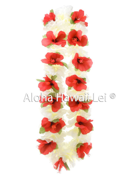 Carnation/Hibiscus Combo Lei - Asst. (Pack of 6)