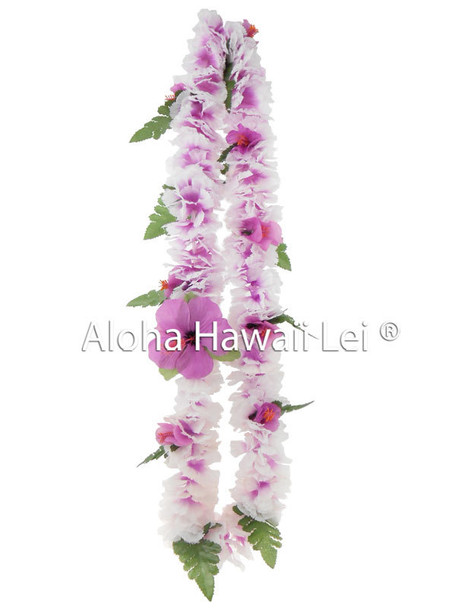 Baby Hibiscus/Carnation Combo Lei - Asst. (Pack of 6)