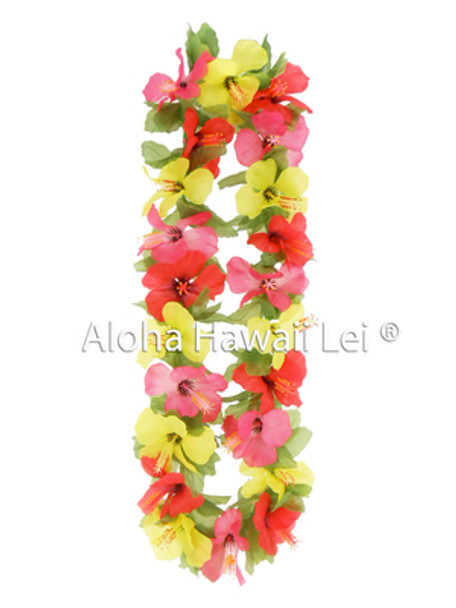 Small Hibiscus Lei - Asst. (Pack of 6)