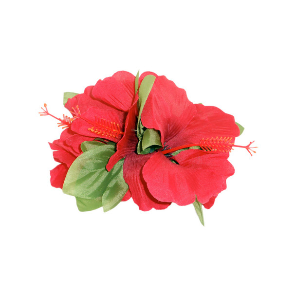 Lrg Hibiscus Tutu Hair Clip (Pack of 6) - Red