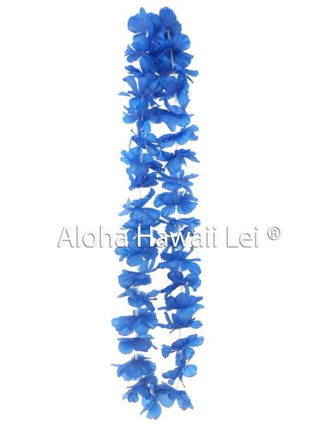 Island Lei (Pack of 25)  - Blue