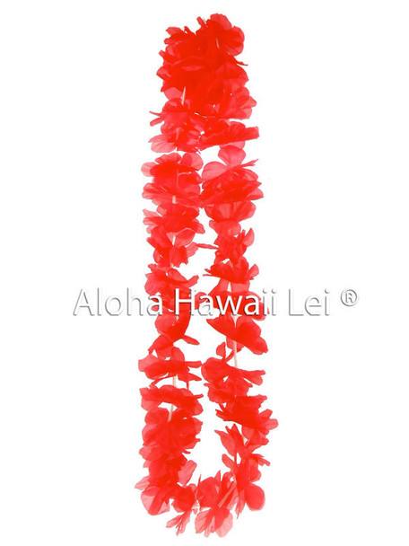Island Lei (Pack of 25) - Red