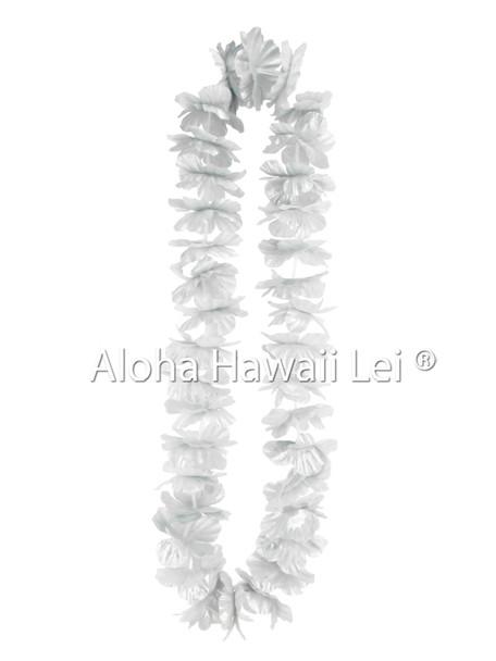 Island Lei (Pack of 25) - Metallic Silver