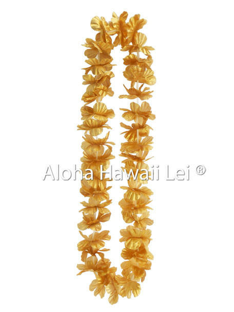 Island Lei (Pack of 25)  - Metallic Gold