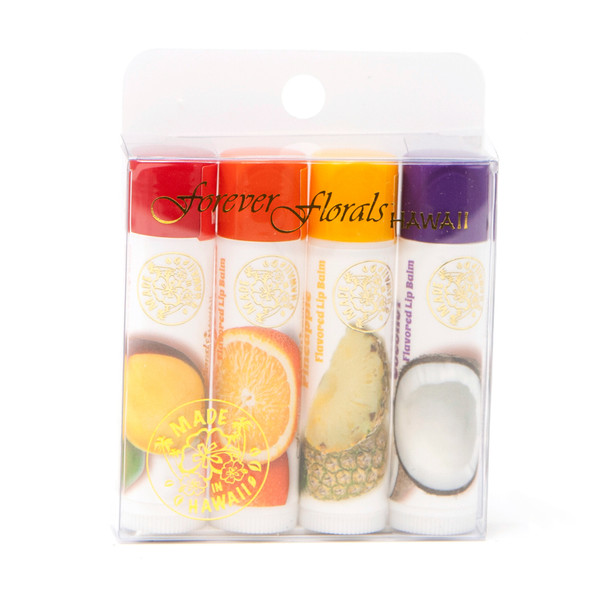 Flavored Lip Balm - Assorted (Pack of 4)