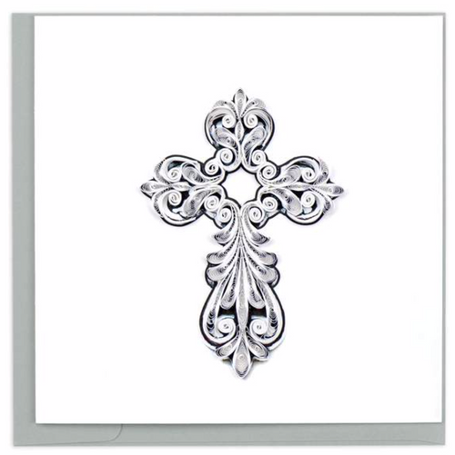 Quilled Cross Card