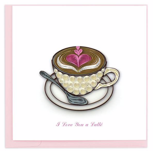 Quilled Love Latte Card
