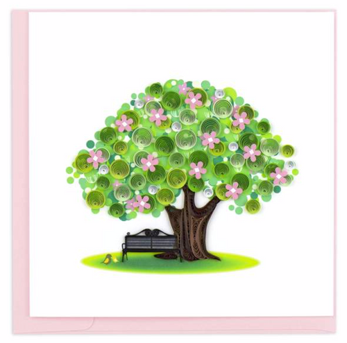 Quilled Spring Tree Card