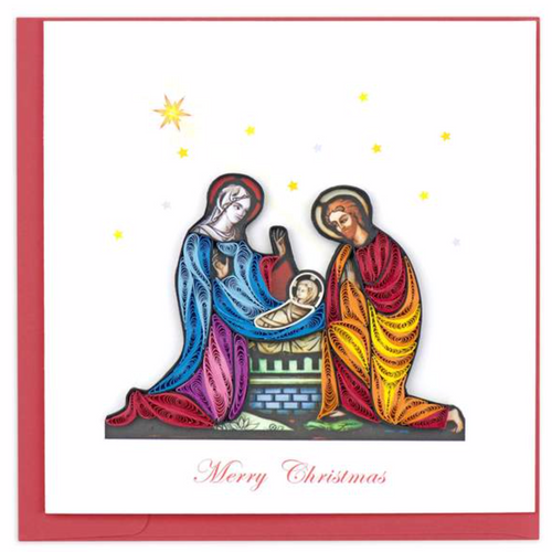 Quilled Nativity Scene Card