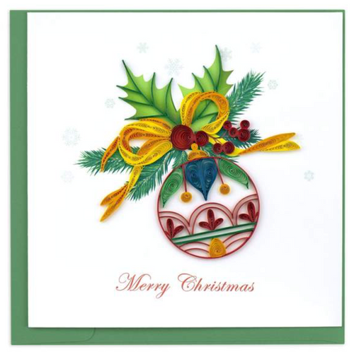 Quilled Christmas Ornament Card