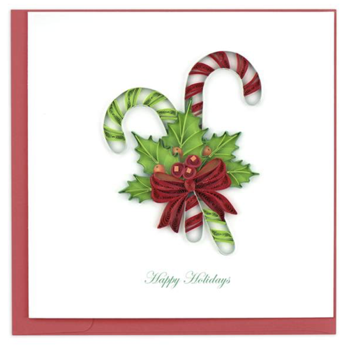 Quilled Candy Canes Card
