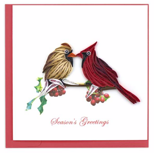 Quilled Season's Greetings Cardinal Card