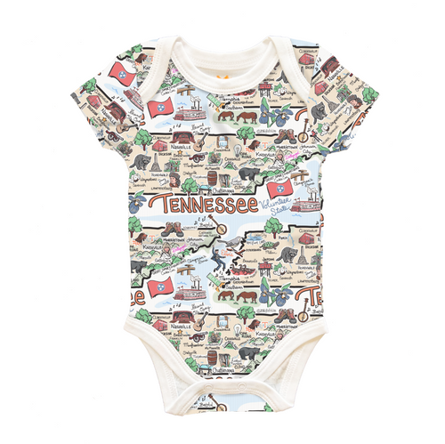 Tennessee Map Onesie 6-12 M